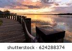 a stroll along the boardwalk on ... | Shutterstock . vector #624288374