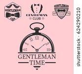 vintage style pocket watch...   Shutterstock .eps vector #624290210