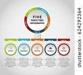 vector illustration of five... | Shutterstock .eps vector #624292364