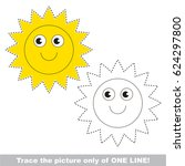 funny sun to be traced only of...   Shutterstock .eps vector #624297800