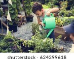 children are in the garden... | Shutterstock . vector #624299618
