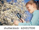 happy little girl exploring...   Shutterstock . vector #624317030