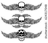 skull with wings. | Shutterstock .eps vector #624317048