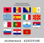 Set Of Flat Flags Of Southern...