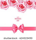 mother's day card with pink... | Shutterstock .eps vector #624323450