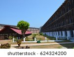 cellular jail in andaman and... | Shutterstock . vector #624324200