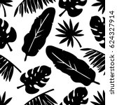 seamless pattern with palm tree ... | Shutterstock .eps vector #624327914