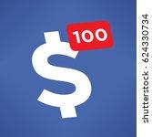 united states dollar symbol... | Shutterstock .eps vector #624330734