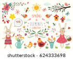 spring time collection with...   Shutterstock .eps vector #624333698