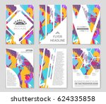 abstract vector layout... | Shutterstock .eps vector #624335858