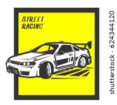 street racing sport team print... | Shutterstock .eps vector #624344120