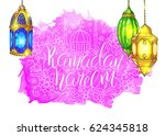 template vector greeting card... | Shutterstock .eps vector #624345818