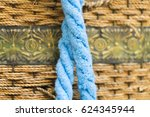 Two Blue Twisted Rope On A...