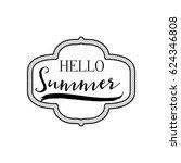summer   handmade template.... | Shutterstock .eps vector #624346808