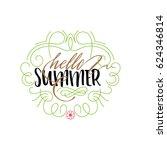summer   handmade template.... | Shutterstock .eps vector #624346814