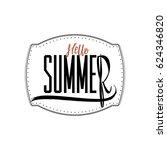 summer   handmade template.... | Shutterstock .eps vector #624346820
