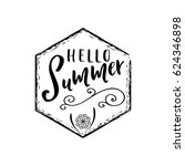 summer   handmade template.... | Shutterstock .eps vector #624346898