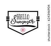 summer   handmade template.... | Shutterstock .eps vector #624346904