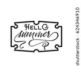summer   handmade template.... | Shutterstock .eps vector #624346910