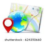 vector illustration of global... | Shutterstock .eps vector #624350660