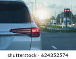 cars on the road heading... | Shutterstock . vector #624352574