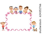 three generation family and... | Shutterstock .eps vector #624352766
