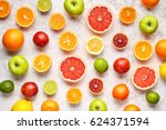 organic fruit food background.... | Shutterstock . vector #624371594