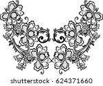 hungarian folk art  | Shutterstock .eps vector #624371660