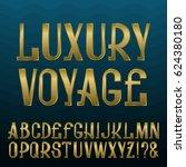 presentable retro style font.... | Shutterstock .eps vector #624380180