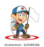 exterminator or pest control... | Shutterstock .eps vector #624380186
