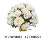 White Roses Bouquet Isolated O...
