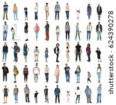 diversity people set gesture... | Shutterstock . vector #624390278