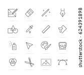 graphic design tools vector... | Shutterstock .eps vector #624391898