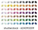 children brick toy simple color ... | Shutterstock .eps vector #624393209