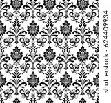 damask seamless floral pattern. ...   Shutterstock . vector #624409934