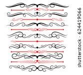ornamental rule lines in... | Shutterstock .eps vector #624419066
