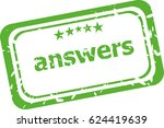 answers grunge rubber stamp... | Shutterstock . vector #624419639