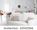 new modern kitchen interior | Shutterstock . vector #624422066