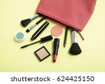 make up products spilling out... | Shutterstock . vector #624425150