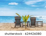 relax beautiful beach landscape ... | Shutterstock . vector #624426080