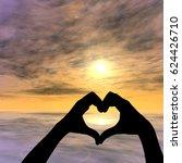 concept or conceptual heart... | Shutterstock . vector #624426710