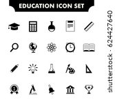 education icon set | Shutterstock .eps vector #624427640