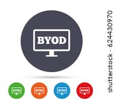 byod sign icon. bring your own... | Shutterstock .eps vector #624430970
