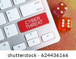 cyber threat. keyboard and dice.... | Shutterstock . vector #624436166
