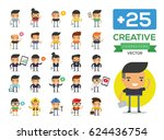 men character set. business... | Shutterstock .eps vector #624436754