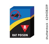 box of rat killer poison and no ... | Shutterstock .eps vector #624438209