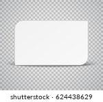 blank horizontal plastic  paper ... | Shutterstock .eps vector #624438629