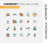 chemistry linear thin line... | Shutterstock .eps vector #624443870