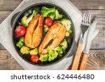 healthy eating  diet. baked... | Shutterstock . vector #624446480