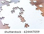 question mark in the form of... | Shutterstock . vector #624447059